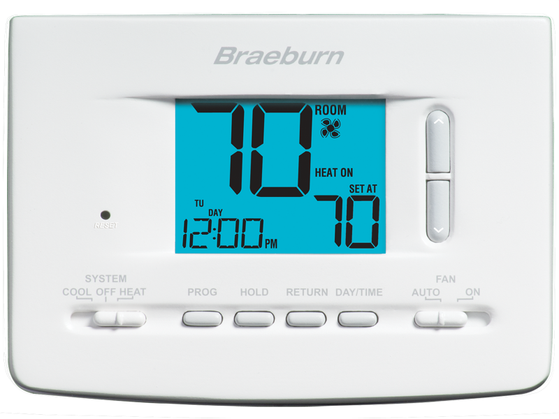 BRAEBURN 2020 THERMOSTAT UNIVERSAL 7 DAY , 5-2 DAY PROGRAMMABLE OR NONPROGRAMMABLE 1H / 1C