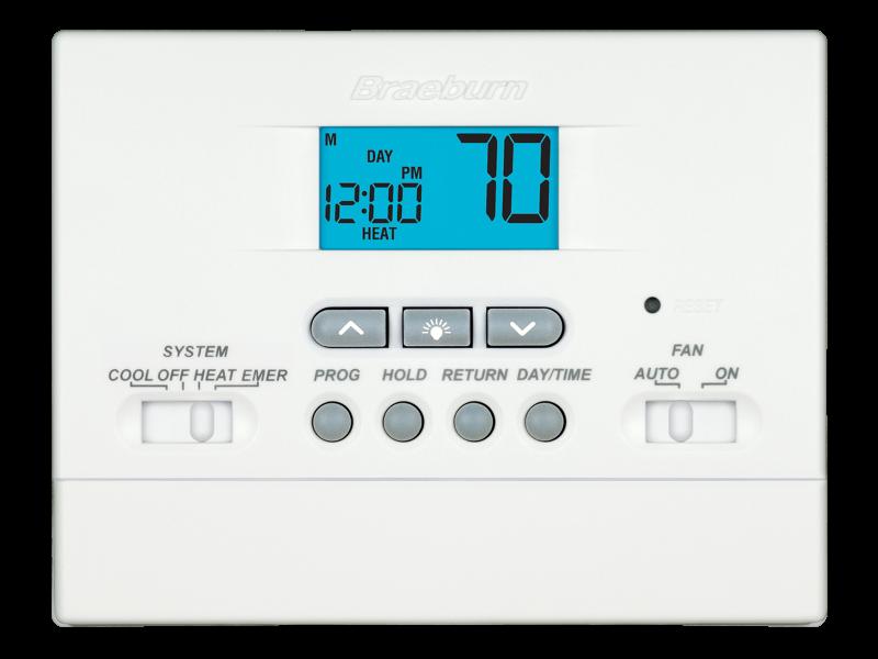builder model 2200nc thermostat braeburn systems rh braeburnonline com Thermostat Braeburn Wiring 1020-150-01 Braeburn 1020 Thermostat Wiring Diagram